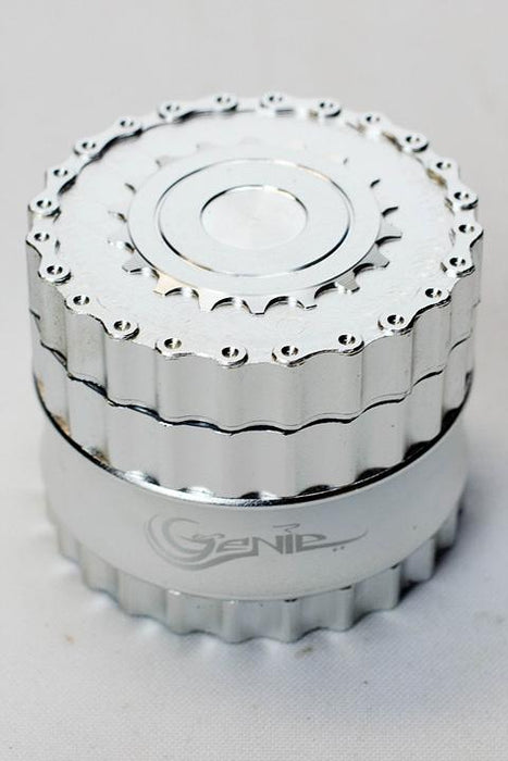 Genie chain and sprocket aluminium grinder - bongoutlet.com