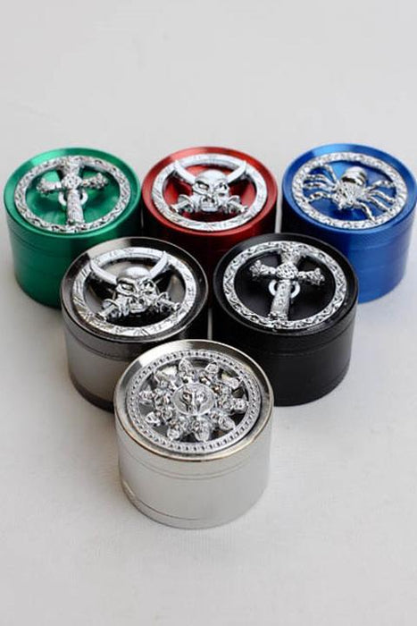 4 parts color grinder with a decoration lid