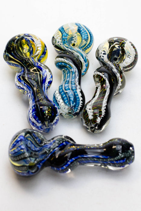 Heavy dichronic 6068 Glass Spoon Pipe