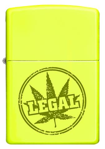 Zippo 28887 Legal Stamp Brushed Yellow
