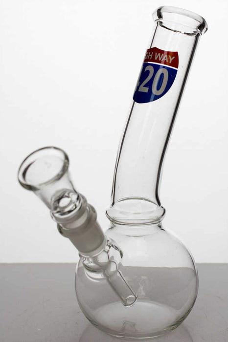 "7"" glass water bong with bowl stem - bongoutlet.com"