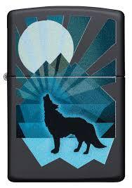 Zippo 29864 Wolf and Moon - bongoutlet.com