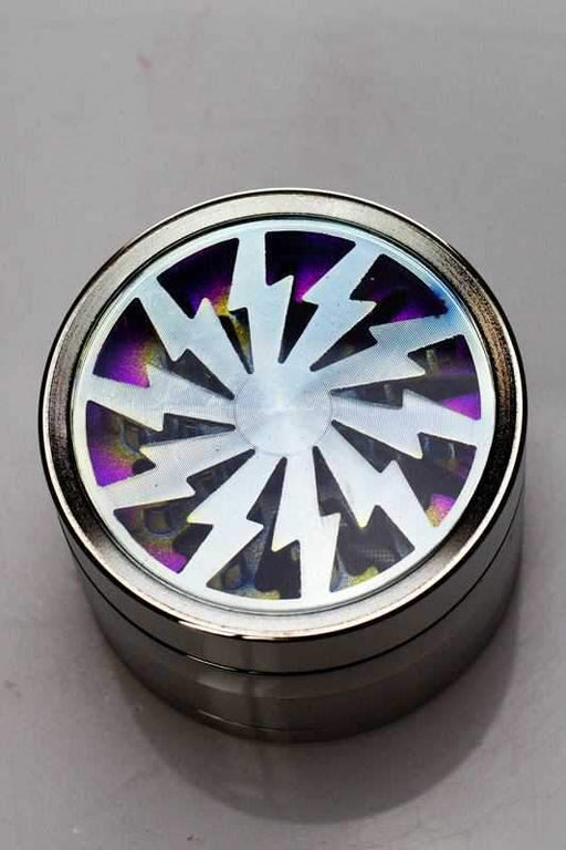 Metal 4 parts grinder with acrylic window - bongoutlet.com