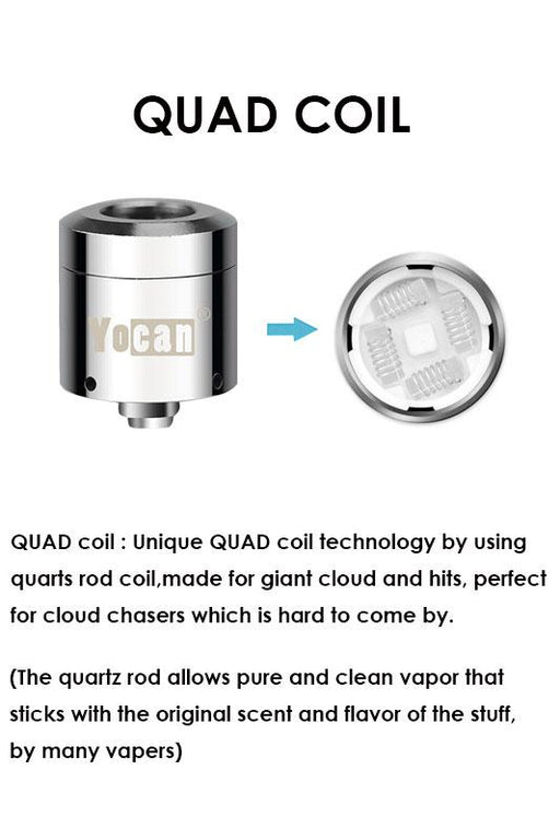 Yocan Evolve Plus XL Four quartz coil - bongoutlet.com