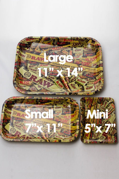 Raw Mini size Rolling tray - bongoutlet.com