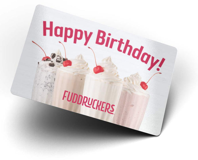 Fuddruckers Gift Card - Hapy Birthday