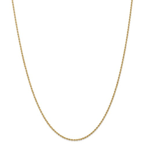 "14k Yellow Gold 1.50mm Regular Rope Chain Available Sizes 6""-30"""