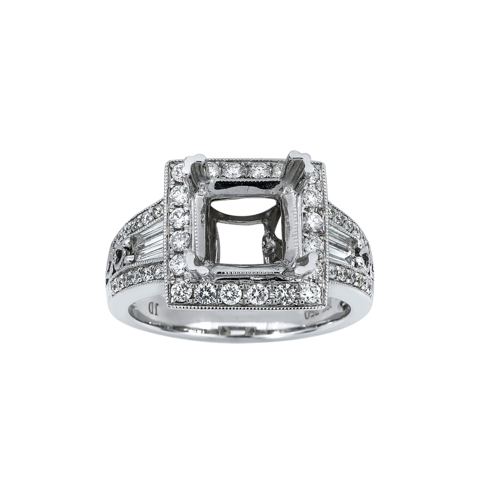 18K White Gold BJ458S2 Women's Ring With 0.88 CT Diamonds