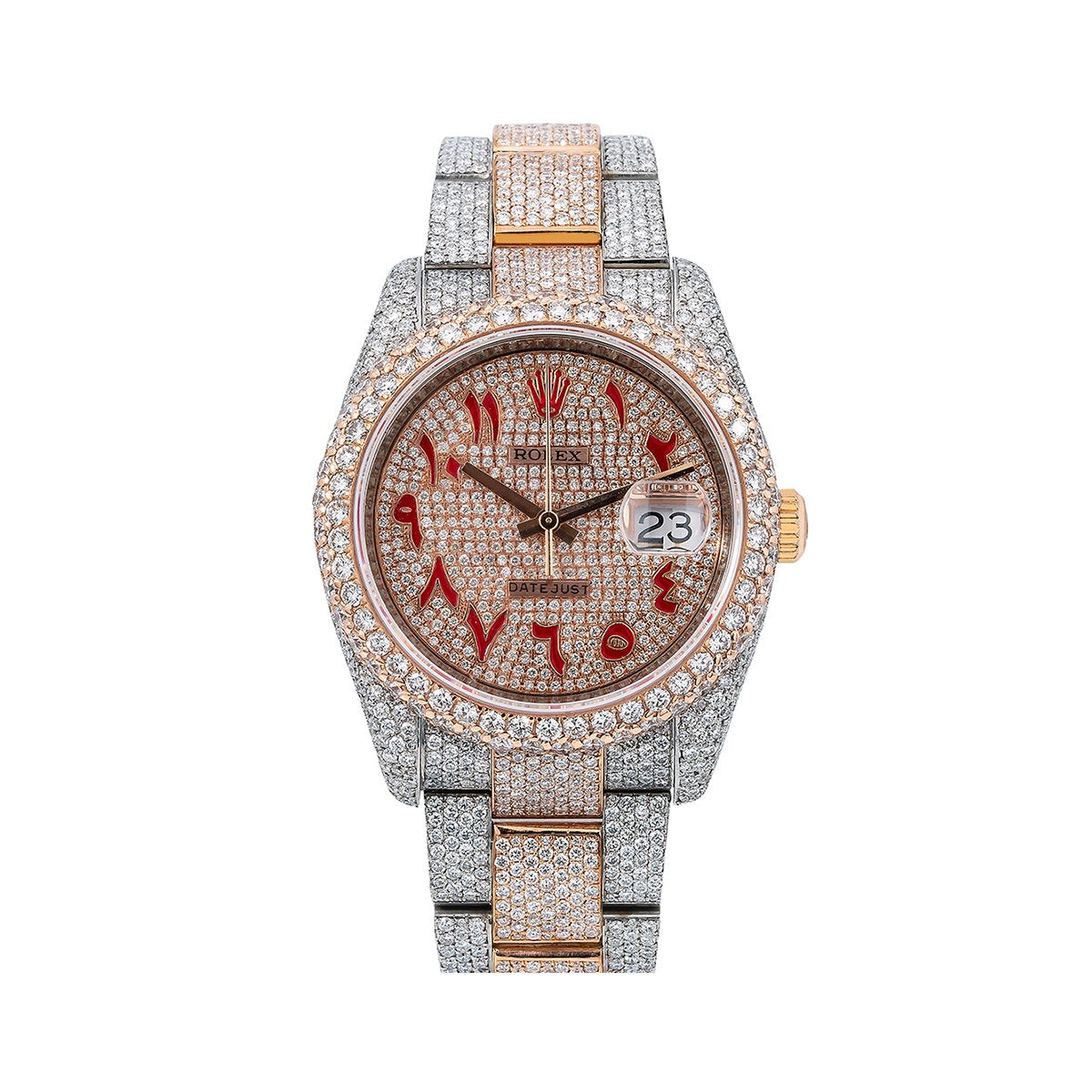 Rolex Datejust Diamond Watch, 116201 36mm, Champagne Diamond Dial With 21.75 CT Diamonds