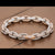 14K White and Rose Gold Custom Diamond Bracelet With 35.15 CT Diamonds