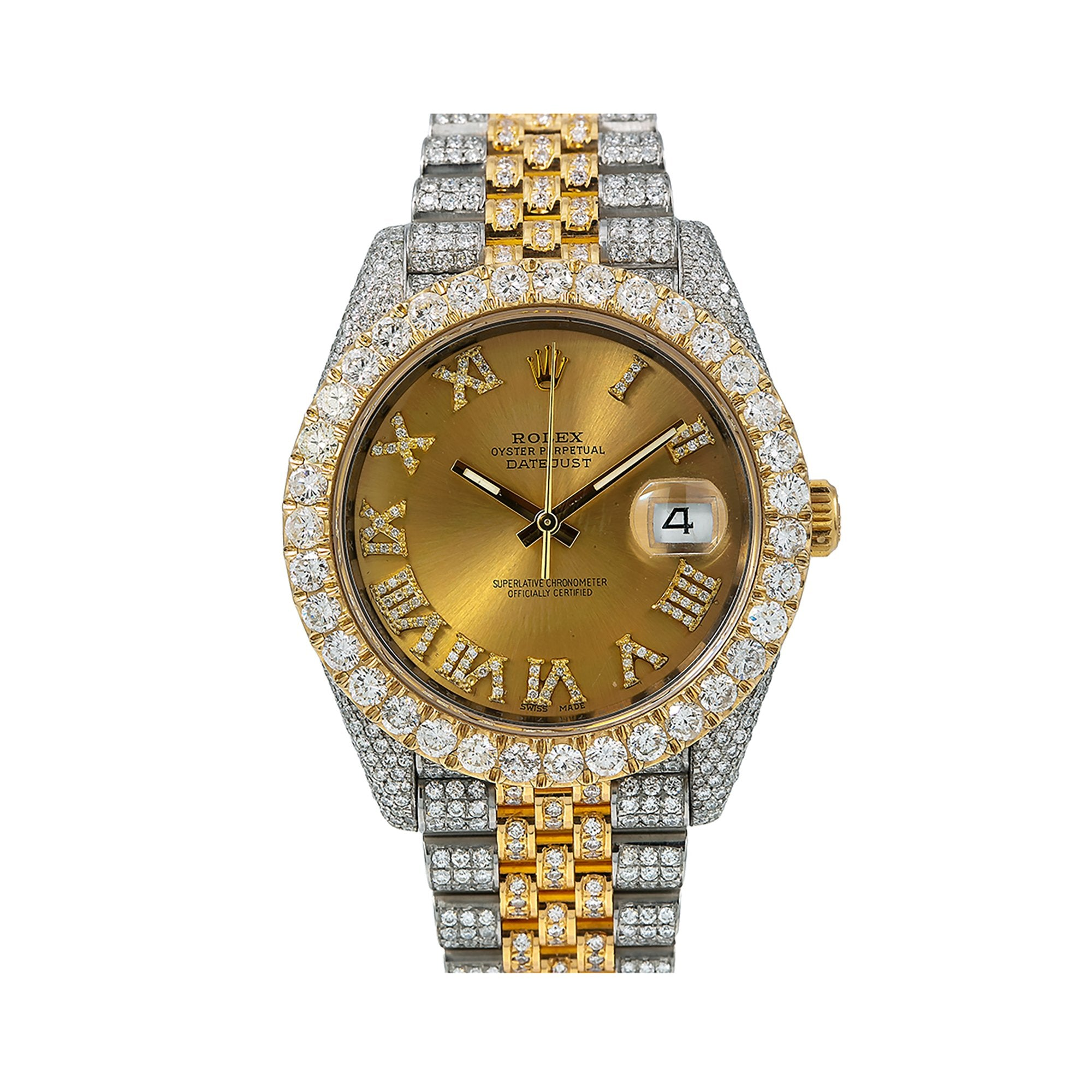 Rolex Datejust Diamond Watch, 126333 41mm, Champagne Diamond Dial With Stainless Steel Jubilee Bracelet