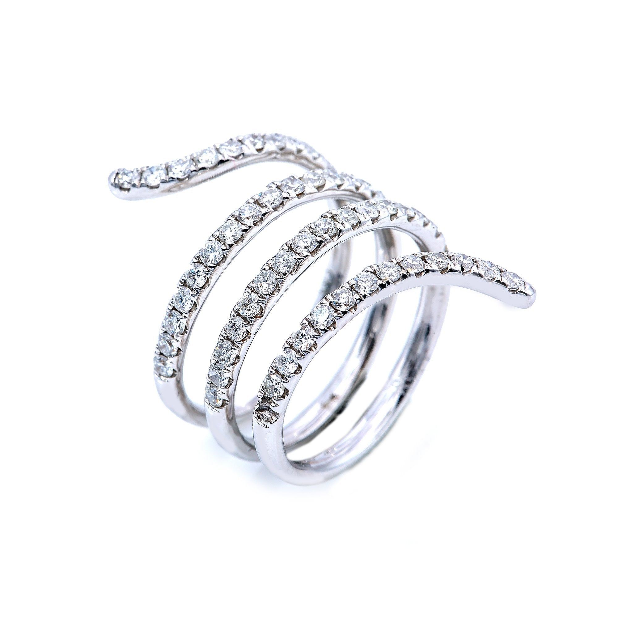 18K White Gold Spring Shaped Ring