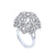 18K White Gold Oval Shaped Ring