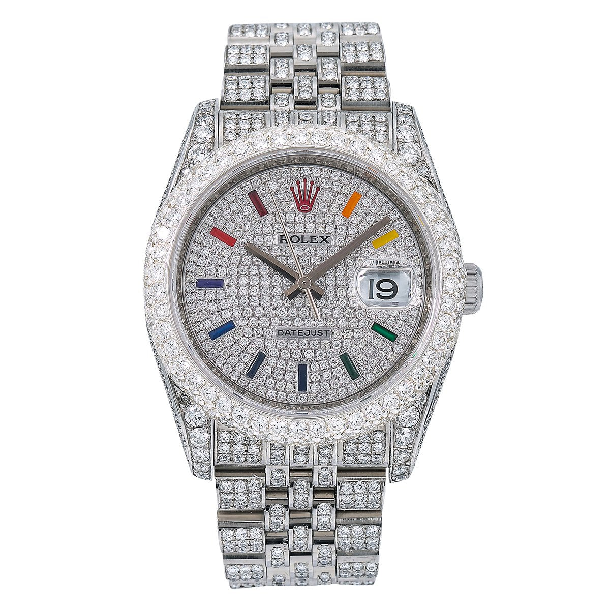 Rolex Datejust Diamond Watch, 116234 36mm, Silver Diamond Dial With Stainless Steel Bracelet