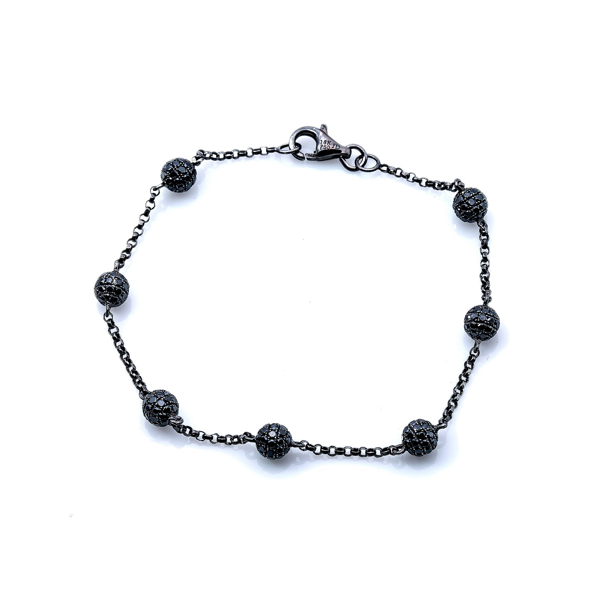 18K Black Gold  Women Ball Shaped  Bracelet