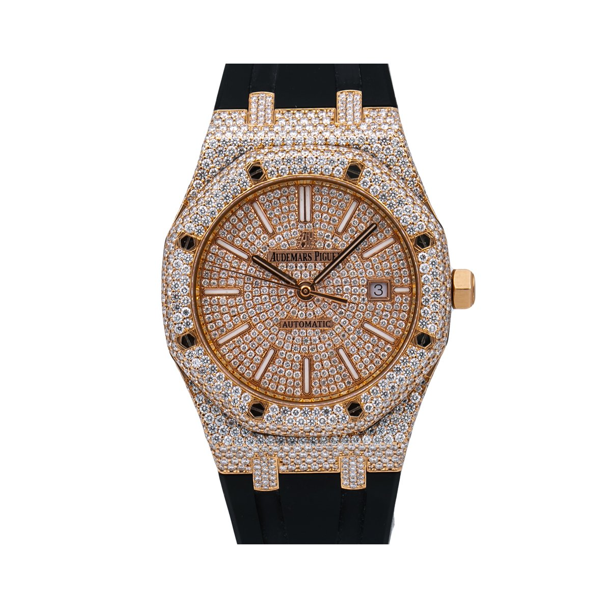 Audemars Piguet Royal Oak 15400OR 41MM Rose Gold Diamond Dial With 14.75 CT Diamonds