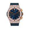 Hublot Classic Fusion 521OX 45MM Blue Dial With 12.75 CT Diamonds