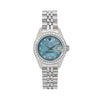 Rolex Oyster Perpetual Lady DateJust 69240 26MM Blue Diamond Dial With 0.90 CT Diamonds