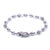 14K White Gold Women Bracelet With Small Balls