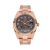 18K Rose Gold Rolex Sky-Dweller 326935 42mm Chocolate Sunray Dial