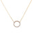 18K Yellow Gold Women Necklace with Circle