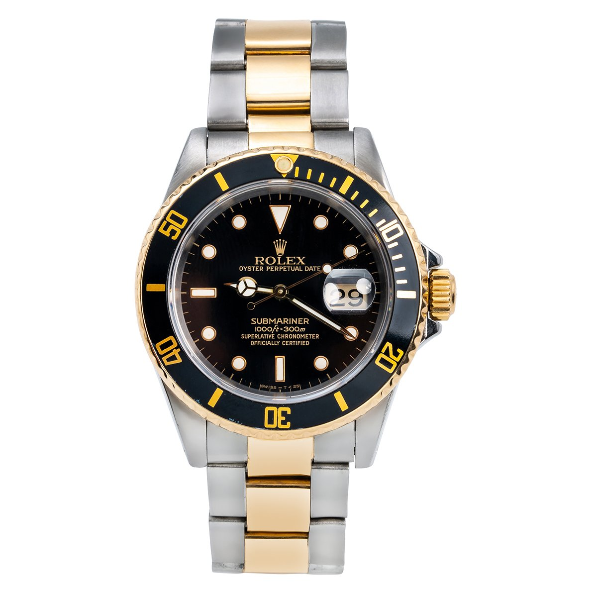 Two Tone Rolex Submariner 16613 40mm Black Dial