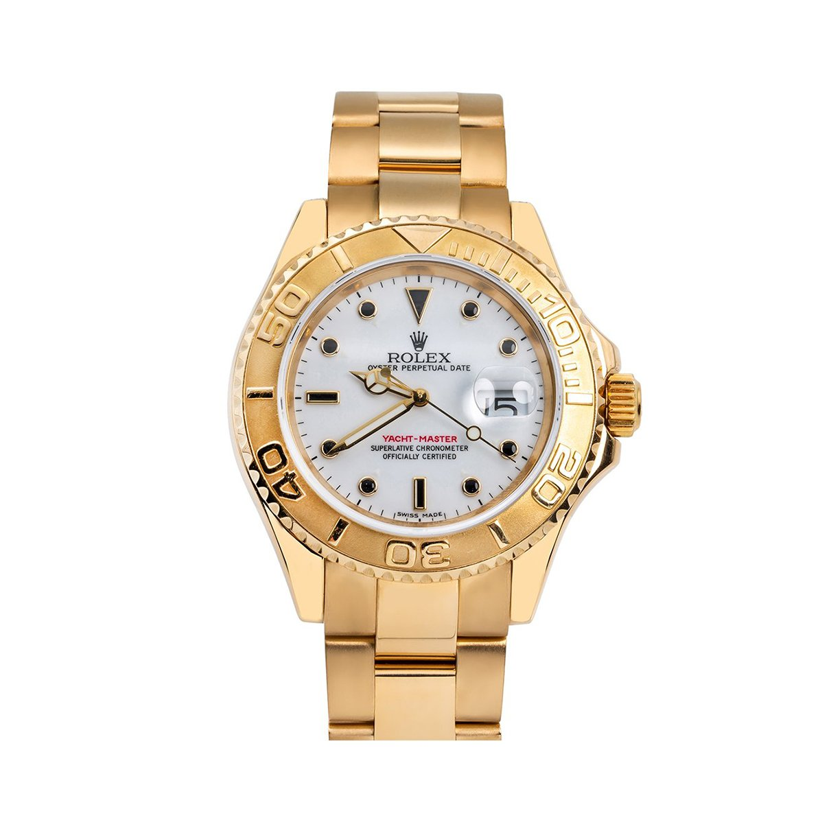18K Yellow Gold Rolex Yacht-Master 16628 40mm Ivory Dial