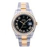 Rolex Datejust II Diamond Watch, 116333 41mm, Black Diamond Dial With Two Tone Oyster Bracelet