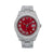 Rolex Datejust II Diamond Watch, 116300 41mm, Red Diamond Dial With Stainless Steel Oyster Bracelet