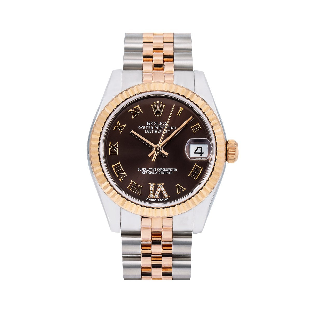 Rolex Datejust 178271 31MM Brown Dial With Two Tone Bracelet