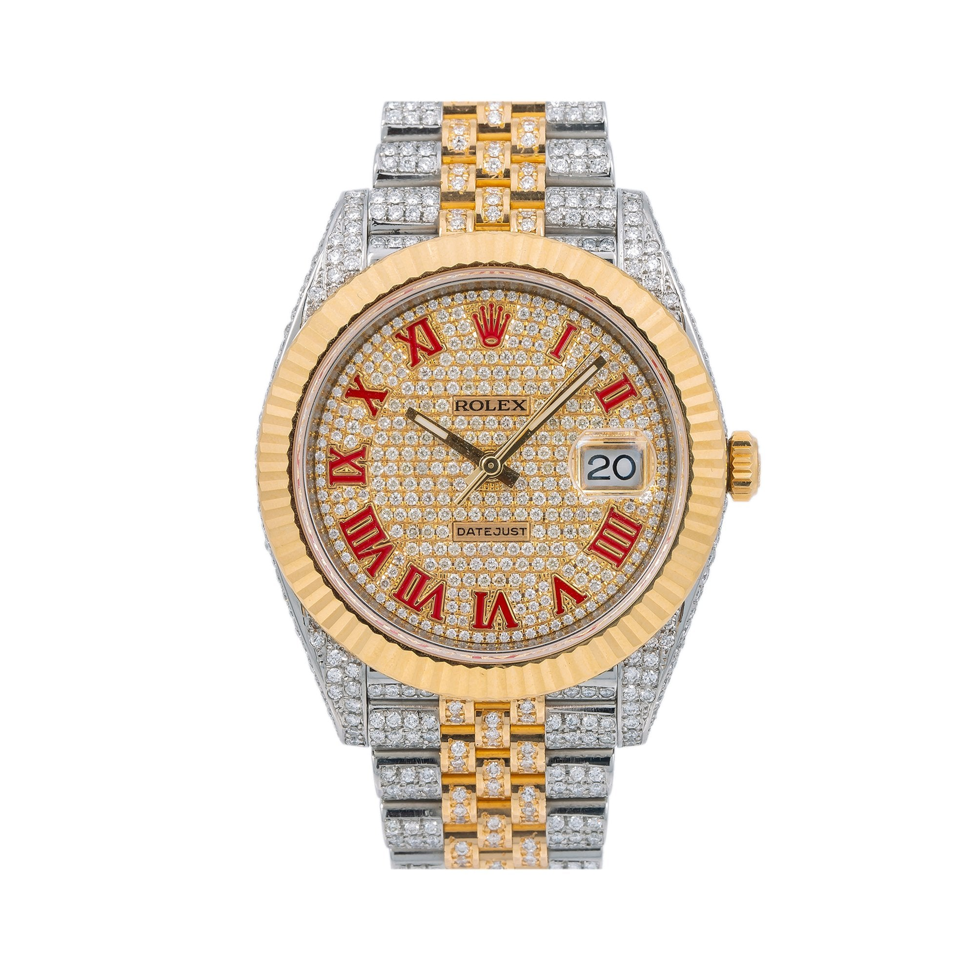 Rolex Datejust Diamond Watch, 126333 41mm, Champagne Diamond Dial With Two Tone Jubilee Bracelet