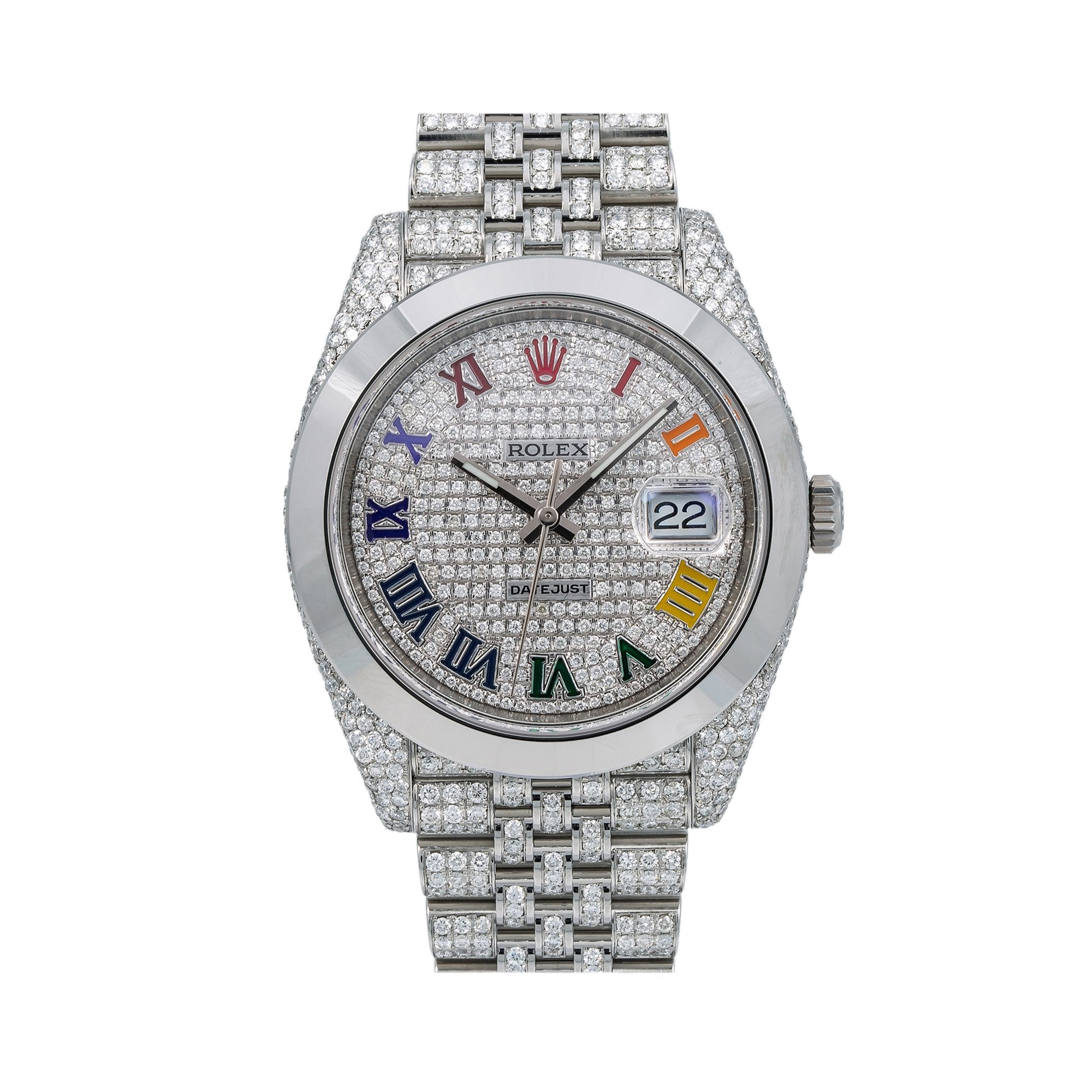 Rolex Datejust Diamond Watch, 126333 41mm, Silver Diamond Dial With Stainless Steel Jubilee Bracelet