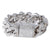 "14K White Gold 8"" Men's Cuban Link 16MM Bracelet With 25.42 CT Diamonds"