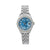 Rolex Lady-Datejust Diamond Watch, 6917 26mm, Blue Diamond Dial With 0.80 CT Diamonds