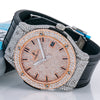 Hublot Classic Fusion 511.NX 45MM Rose Gold Diamond Dial With Leather Bracelet