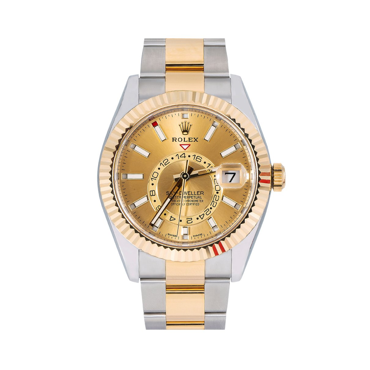 Rolex Sky-Dweller 326933 42MM Champagne Dial With Two Tone Bracelet