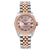 Two Tone Rolex DateJust 178271 31mm Pink Champagne Dial with Roman Numerals