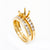 18K Yellow Gold Double Round Shape Ring