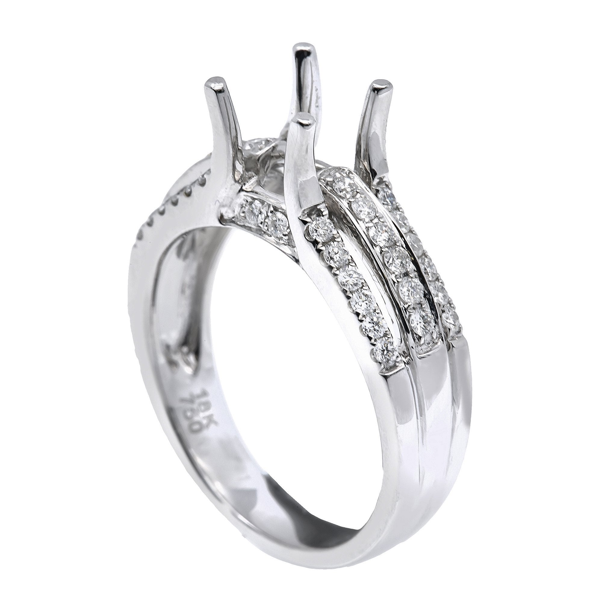 14K White Gold Round Shape Ring