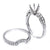 14K White Gold Double  Round Shape Ring
