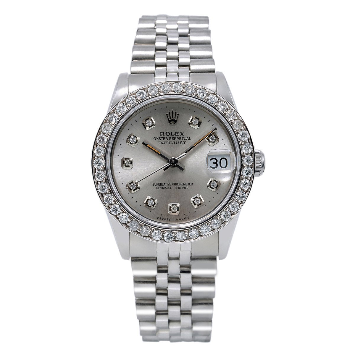 Rolex Datejust Diamond Watch, 68274 31mm, Silver Dial with 1.05CT Diamond Bezel