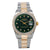 Rolex Datejust Two Tone Diamond Watch, 1601 36mm, Green Dial With 1.20CT Diamond Bezel