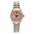 Rolex Oyster Perpetual Diamond Watch, 26mm, Pink Dial With 0.90CT Diamond Bezel