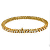 14K Yellow Gold Men's Tennis Bracelet With 10.73 CT Diamonds