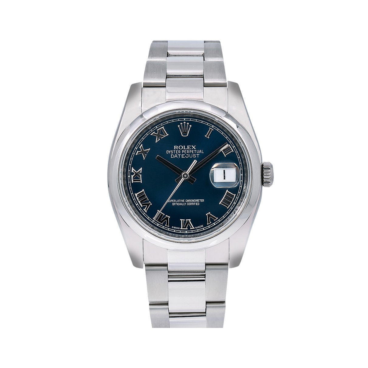 Rolex Datejust 116200 36MM Blue Dial With Stainless Steel Oyster Bracelet