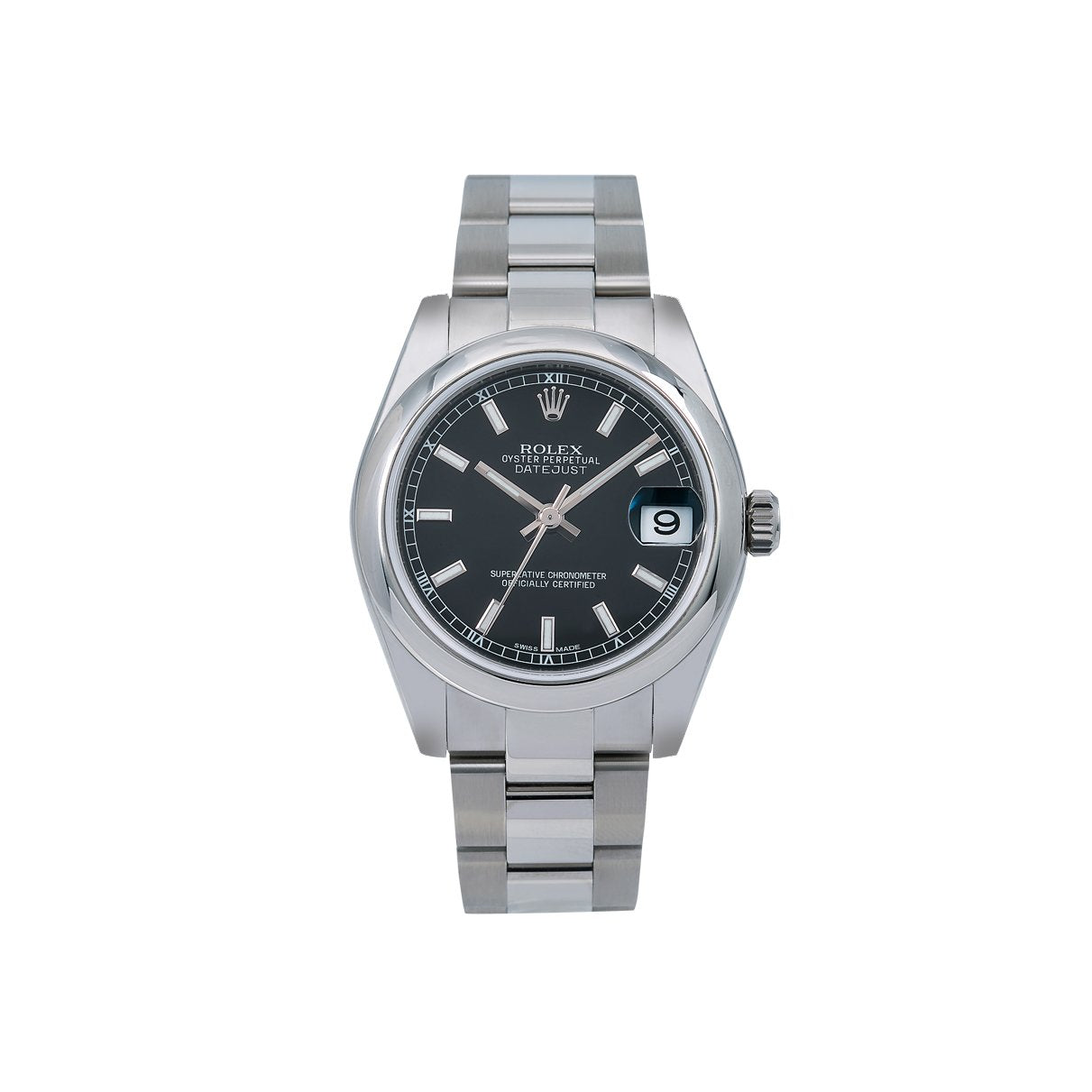 Rolex Datejust 178240 31MM Black Dial With Stainless Steel Oyster Bracelet