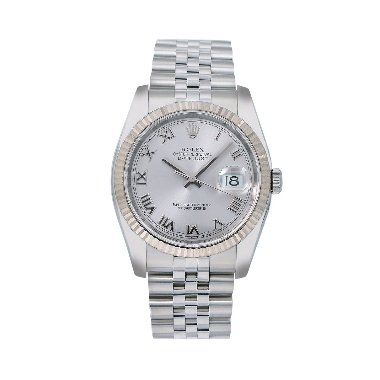 Rolex Datejust 116234 36MM Silver Dial With Stainless Steel Bracelet