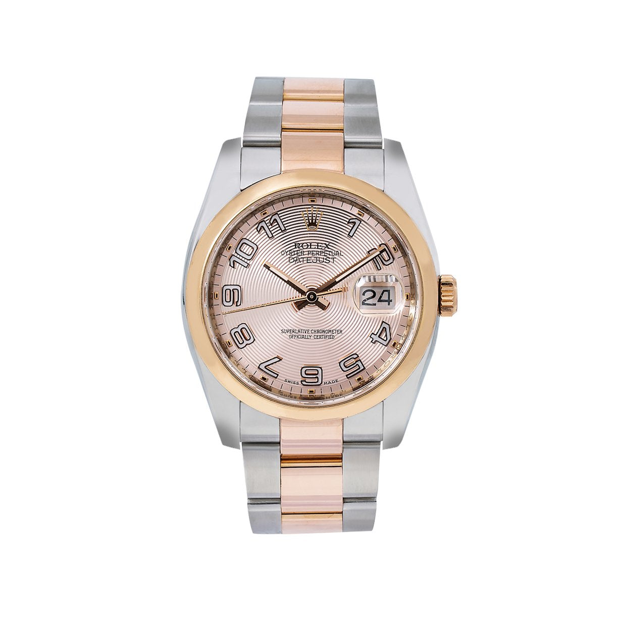 Rolex Datejust 116201 36MM Pink Dial With Two Tone Oyster Bracelet