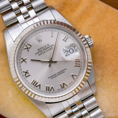 Rolex Datejust 16234 36MM Silver Dial With Stainless Steel Jubilee Bracelet