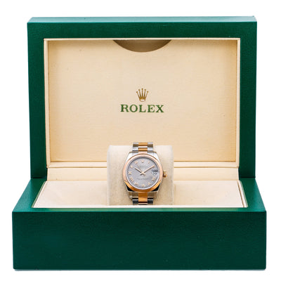 Rolex Datejust 178241 Silver Dial With Two Tone Oyster Bracelet